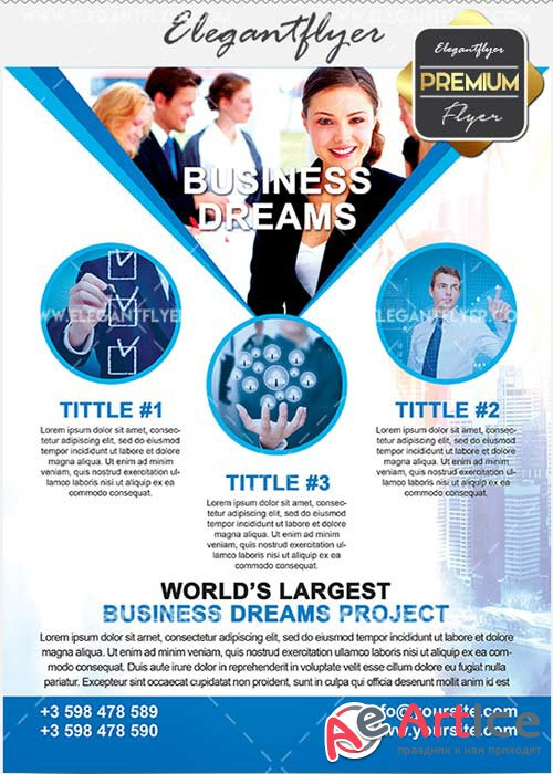 Business Dream Flyer PSD V14 Template + Facebook Cover