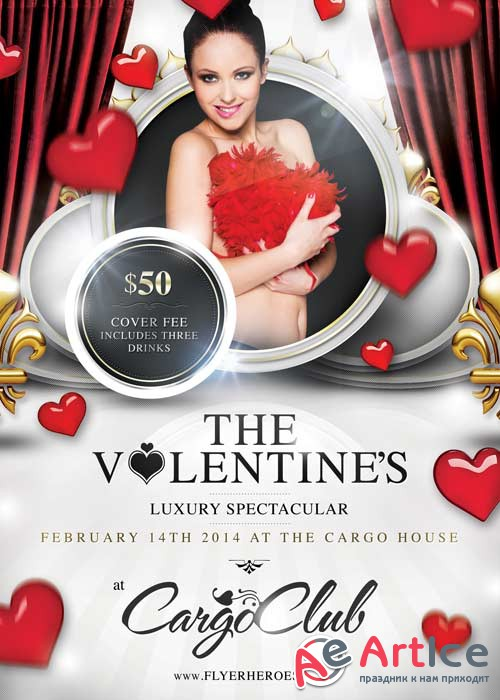 Valentines Luxury Spectacular V1 Flyer PSD Template