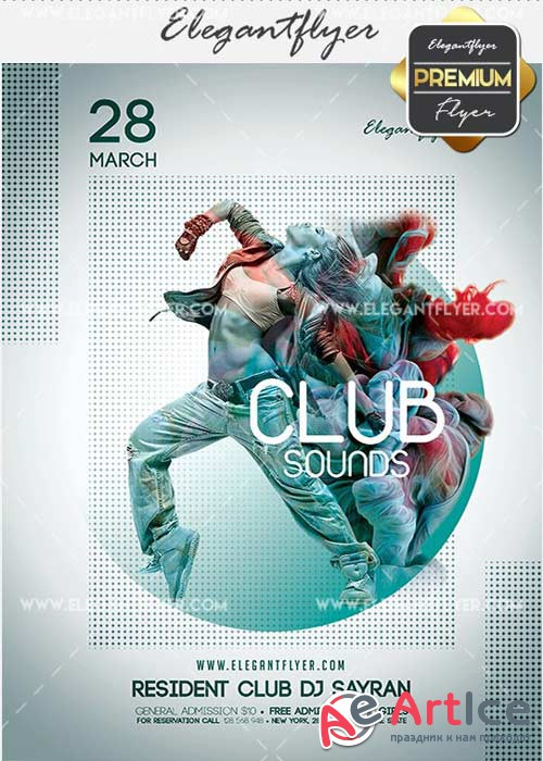Club Sounds V5 Flyer PSD Template + Facebook Cover