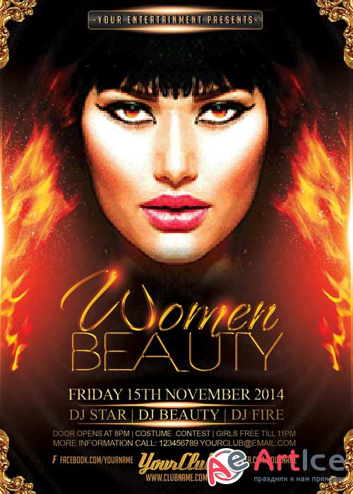 Woman Beauty V8 Flyer Template