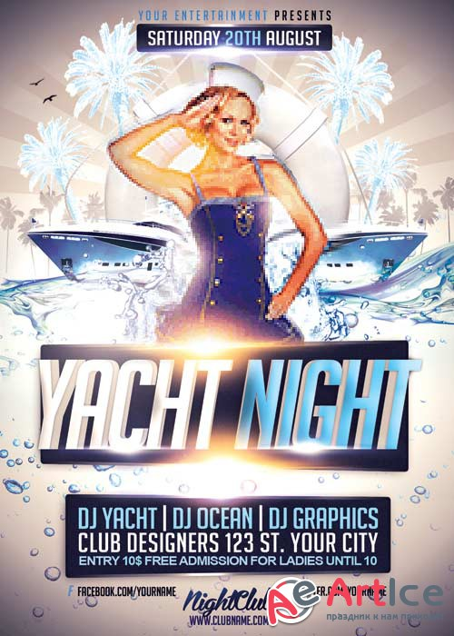Yacht Night V7 FlyerTemplate