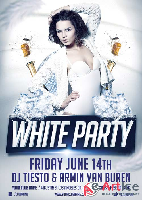 White Party V14 Flyer Template