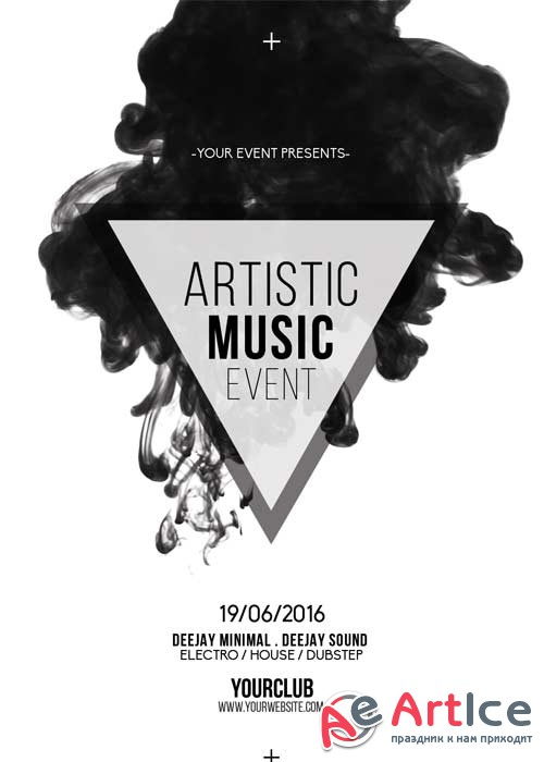 Artistic Music Event V5 Flyer Template
