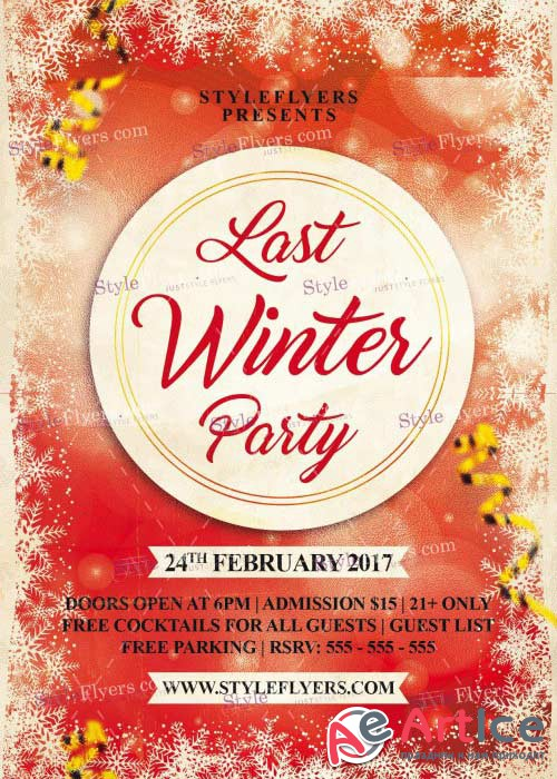 Last Winter Party V5 PSD Flyer Template
