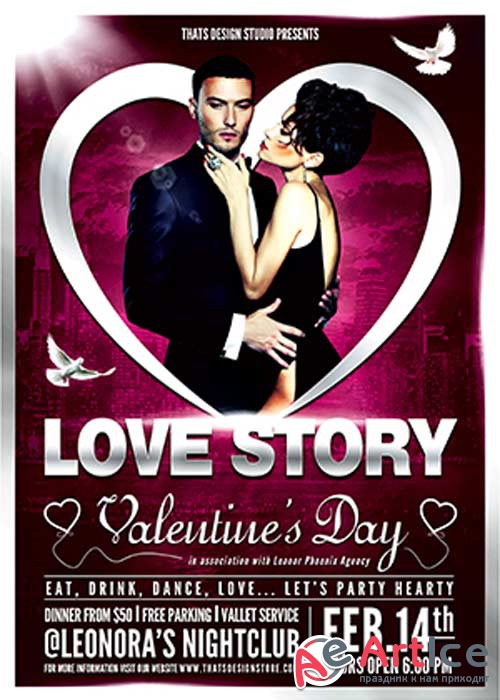 Valentines Day V42 Flyer Template