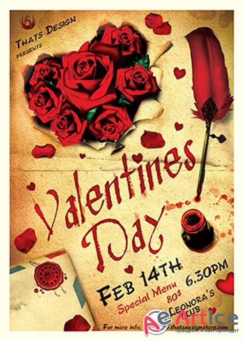Valentines Day V45 Flyer Template