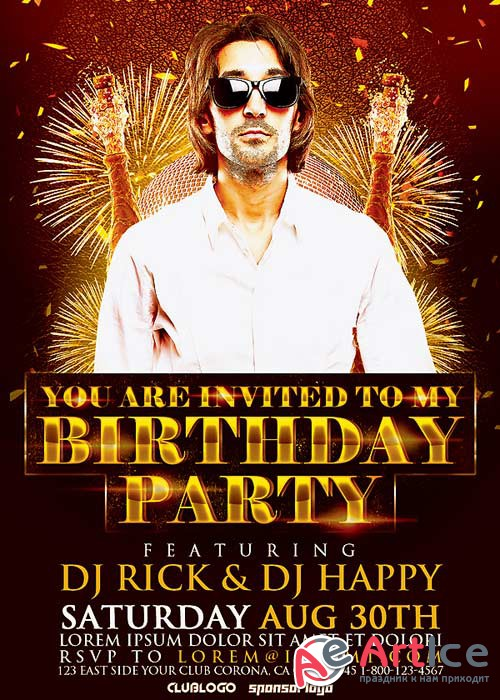 Birthday Party V10 Flyer Template