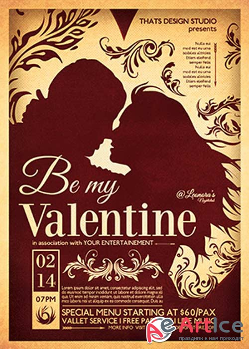 Valentines Day Flyer Template V46