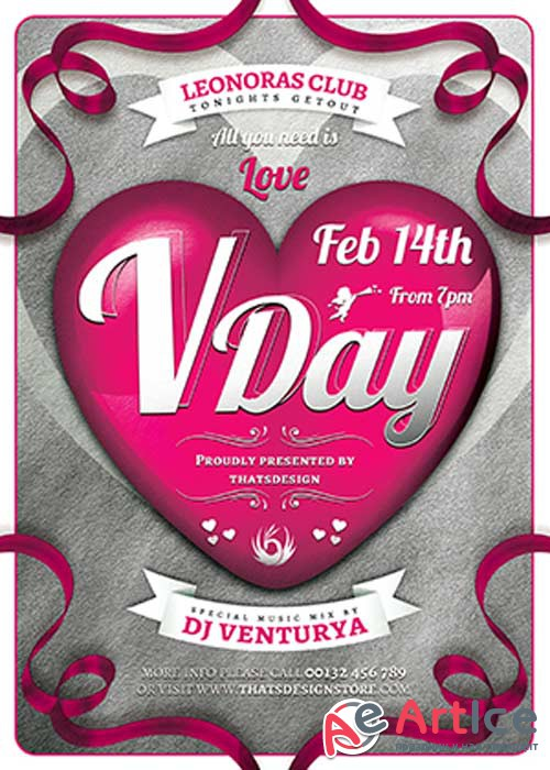 Valentines Day Flyer Template V48