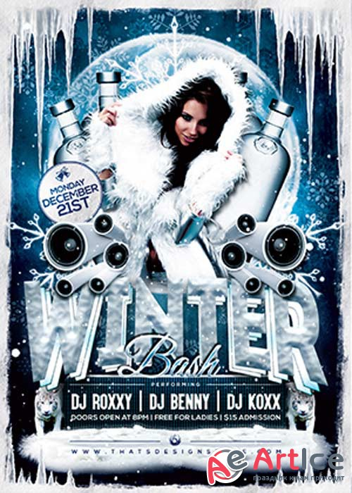 Winter Bash V11 Flyer Template