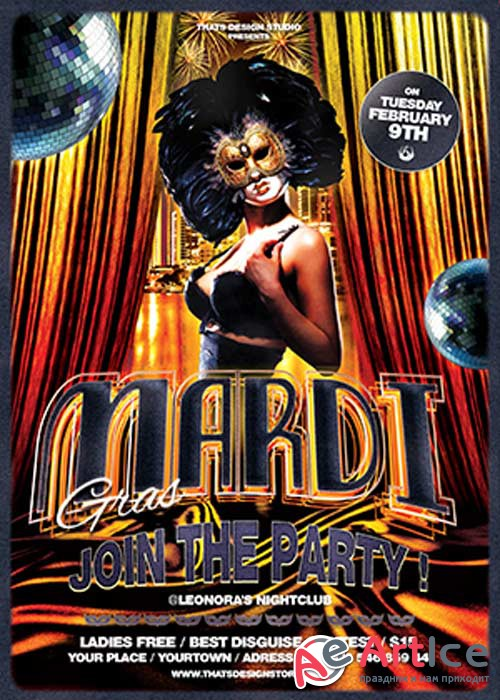 Mardi Gras V21 Flyer Template