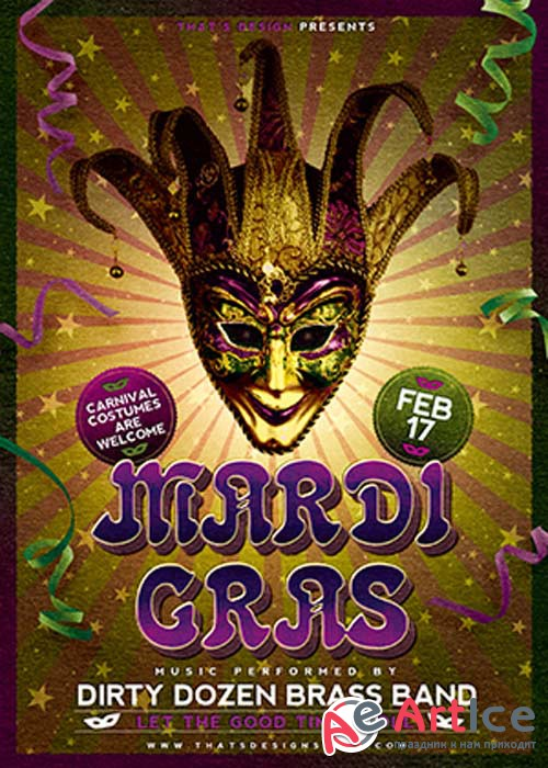 Mardi Gras V22 Flyer Template