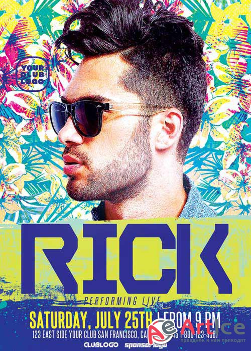 DJ Rick Club Party V9 Flyer Template