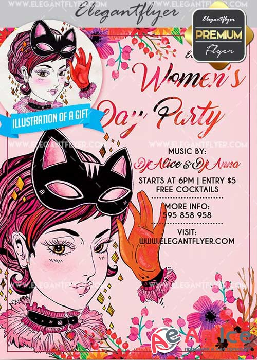 Women's Day V11 Flyer PSD Template + Facebook Cover