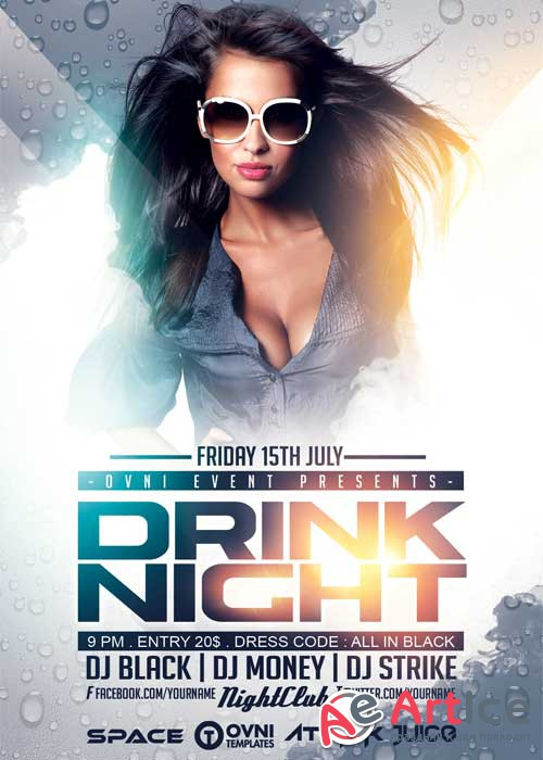 DRINK NIGHT V22 Flyer Template
