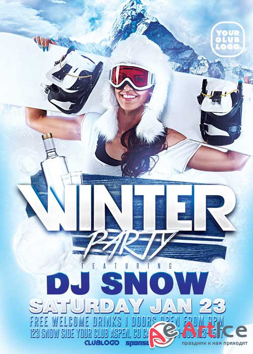 Winter Party V12 Flyer Template