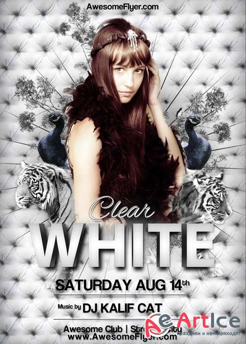 White Tiger Club Party V8 Flyer Template