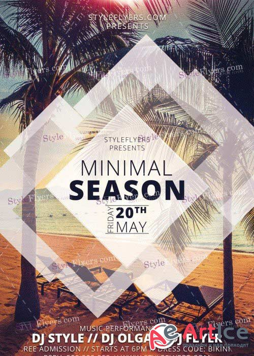 Minimal Season V15 PSD Flyer Template
