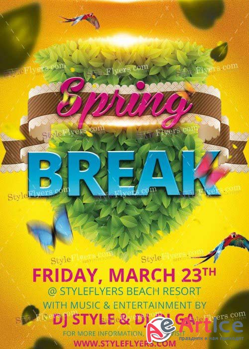 Spring Break V11 PSD Flyer Template