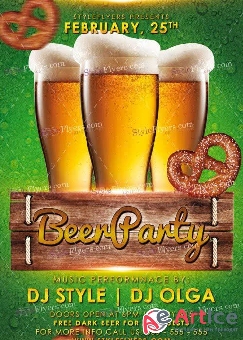 Beer Party V11 PSD Flyer Template