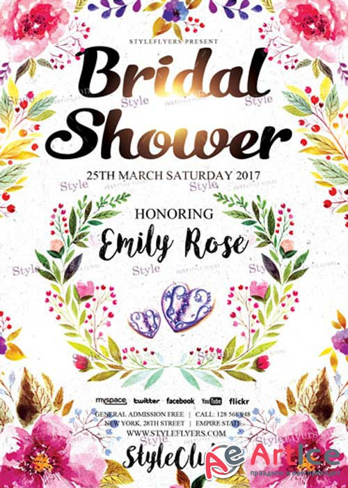Bridal Shower V7 PSD Flyer Template