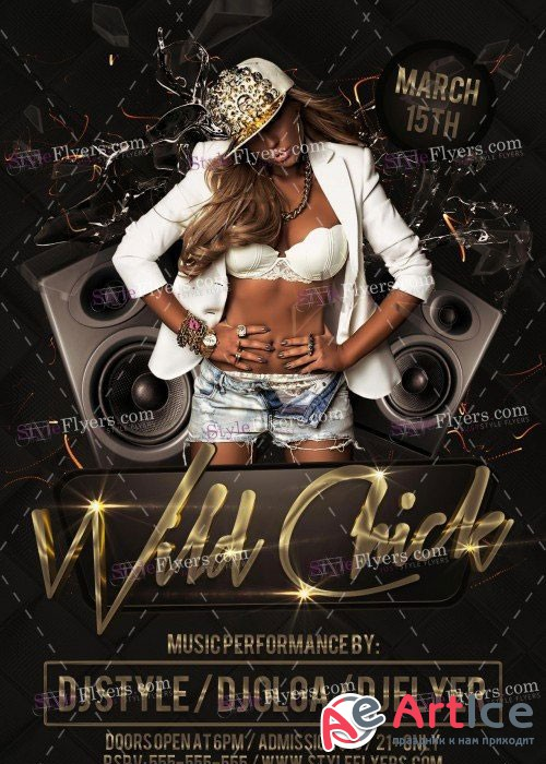 Wild Chick V5 PSD Flyer Template