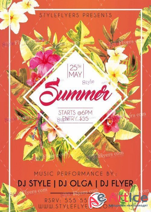 Summer V20 PSD Flyer Template