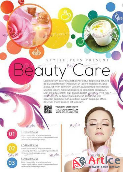 Beauty Care V10 PSD Flyer Template