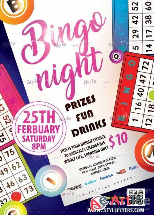 Bingo Night V15 PSD Flyer Template