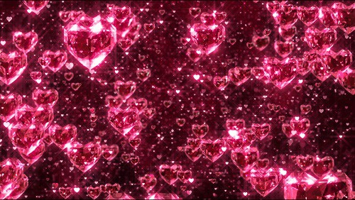 Brilliant Hearts background