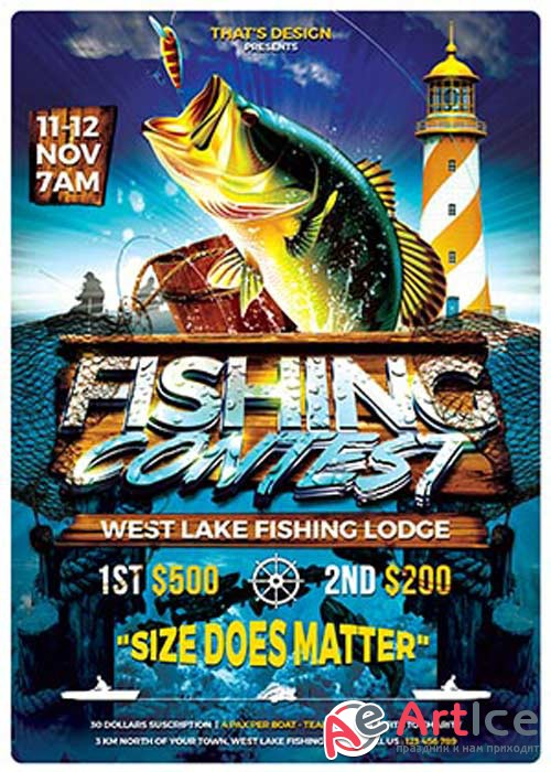 Fishing Contest V15 Flyer Template