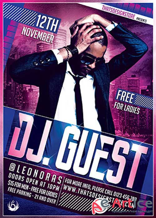 Dj Guest V11 Flyer Template