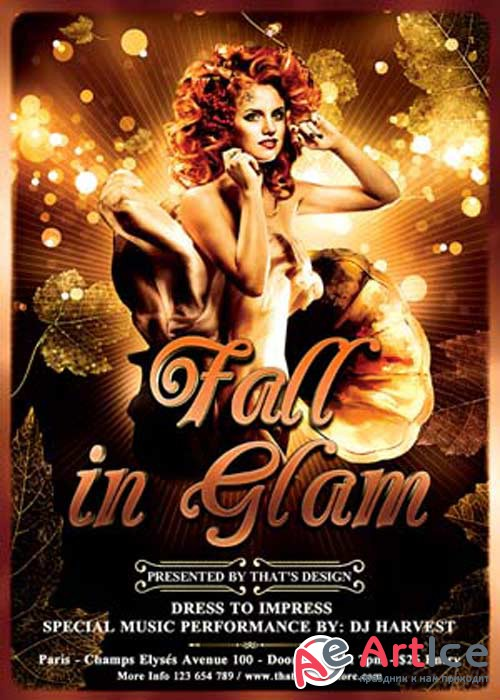 Fall in Glam V12 Flyer Template