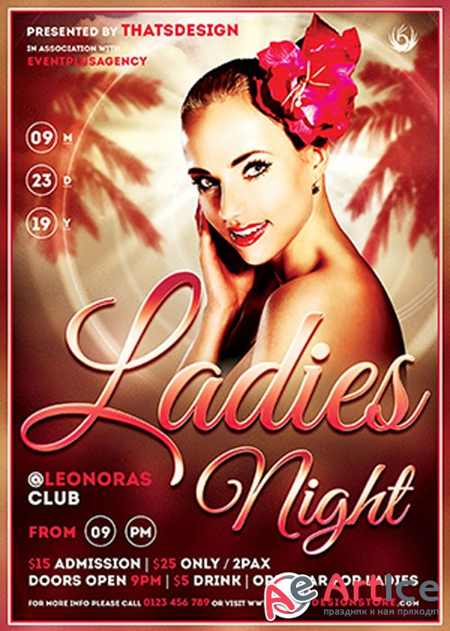 Sensual Ladies Night Flyer V18 Template