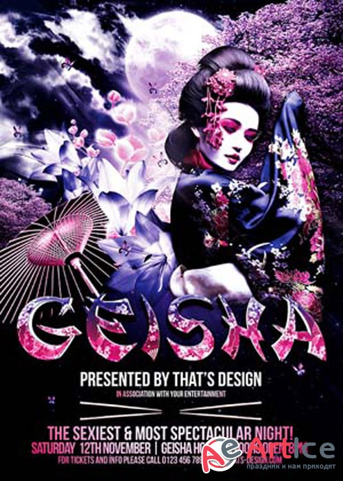 Geisha Night Flyer Template V2