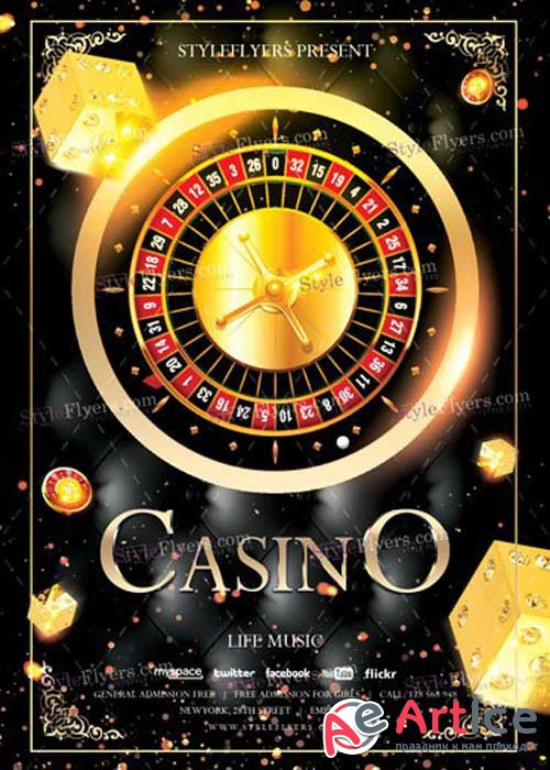 Casino PSD V4 Flyer Template