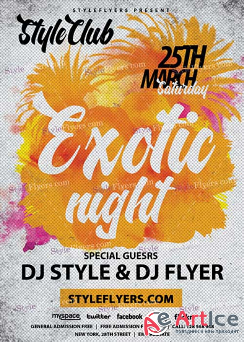 Exotic Night V8 PSD Flyer Template