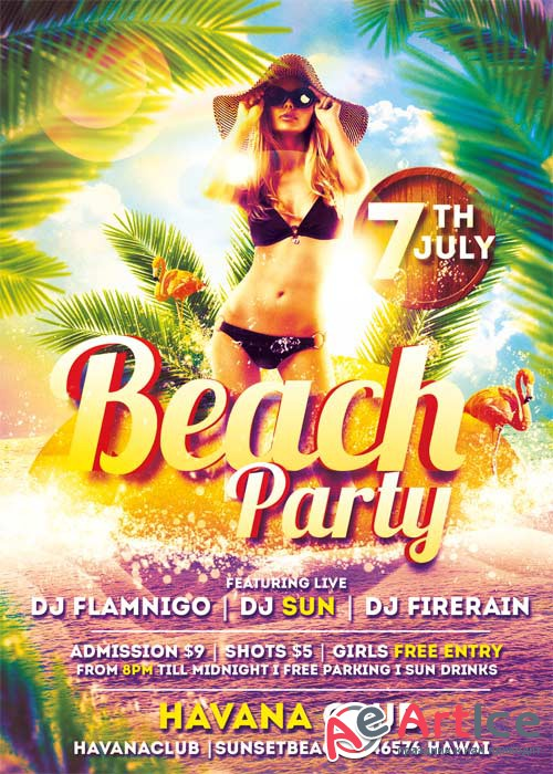 Beach Party V22 Flyer Template