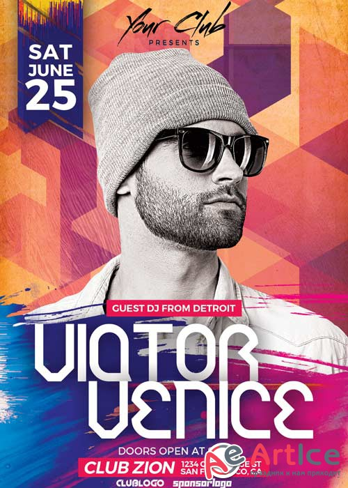 DJ Victor Club Party V9 Flyer Template