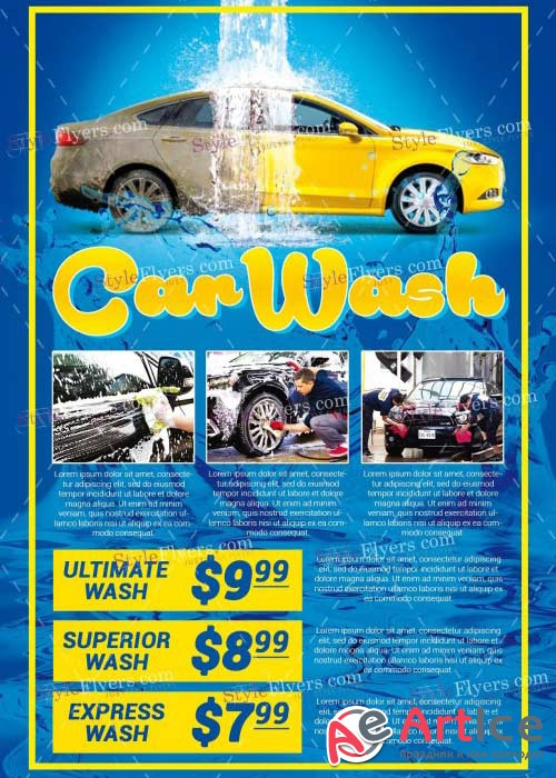 Car Wash V23PSD Flyer Template