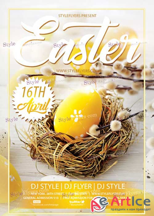Easter V23 PSD Flyer Template