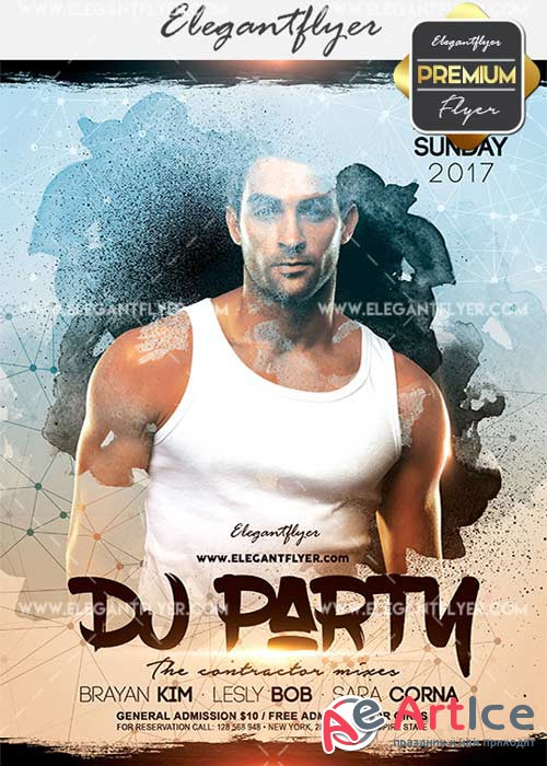 DJ Party V11 Flyer PSD Template + Facebook Cover