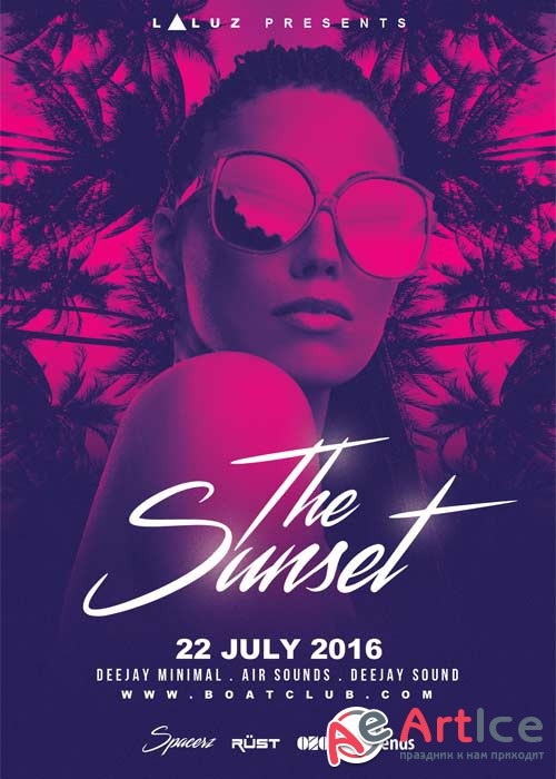 The Sunset V10 Flyer Template