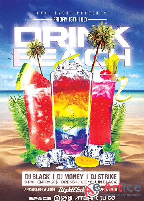 DRINK BEACH V21 Flyer Template