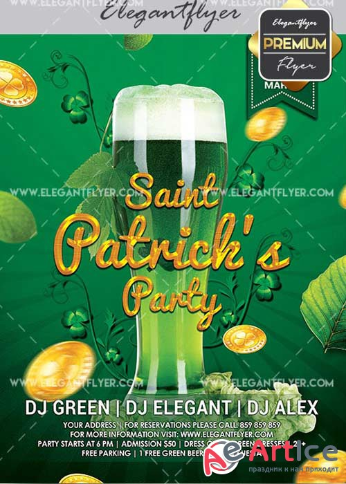 Patrick's Day V28 Flyer PSD Template + Facebook Cover