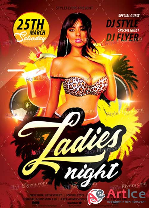 Ladies Night V33 PSD Flyer Template