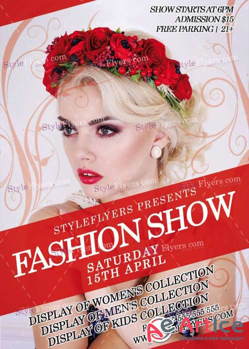 Fashion Show V17 PSD Flyer Template