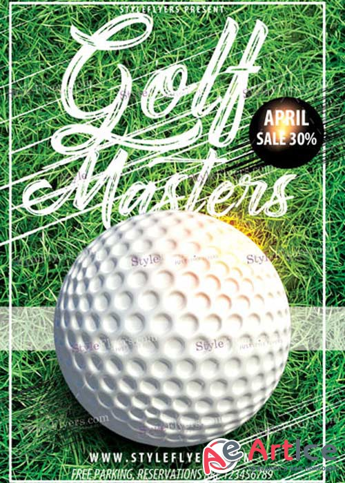 Golf Masters V3 PSD Flyer Template