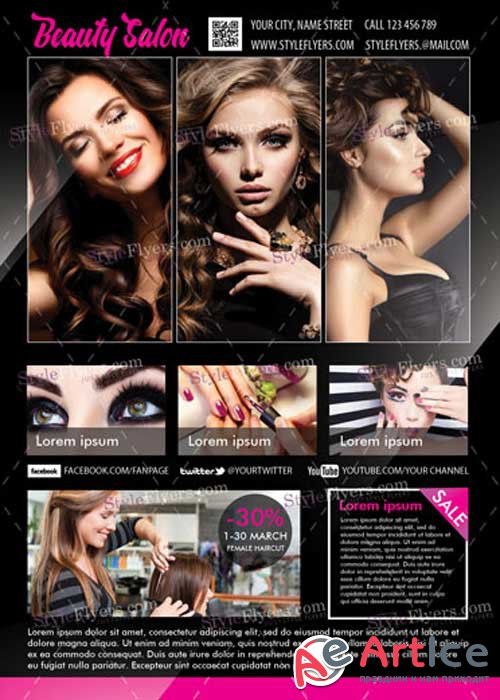 Beauty Salon V12 PSD Flyer Template