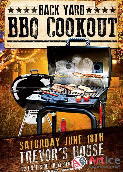 Backqard BBQ Party V14 Flyer Template